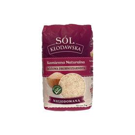 Sól kłodawska kamienna naturalna różowa niejodowana 1 kg