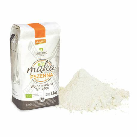 Mąka pszenna pełnoziarnista BIO Typ 1400 Demeter 1 kg (1)
