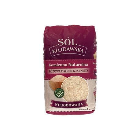 Sól kłodawska kamienna naturalna różowa niejodowana 1 kg (1)