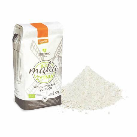 Mąka żytnia pełnoziarnista BIO Typ 2000 Demeter 1kg (1)